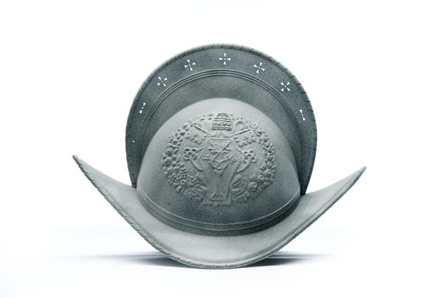 A helmet 3D printed for the Pontifical Swiss Guard, which provides security to The Vatican. (Image courtesy of HP.)