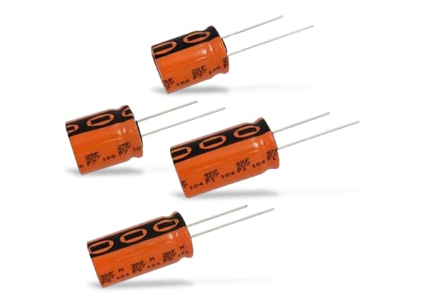 MAL2225 capacitors. (Image courtesy of RS Components.)