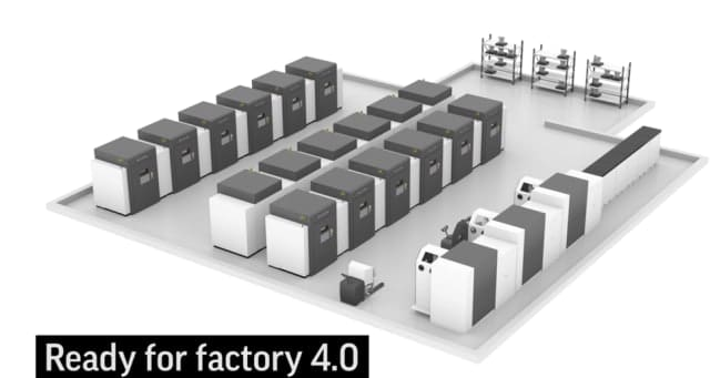The factory-style implementation of the modular DMP8500 platform. (Image courtesy of 3D Systems.)