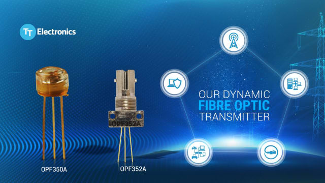 OPF350A and OPF352A transmitters. (Image courtesy of TT Electronics.)