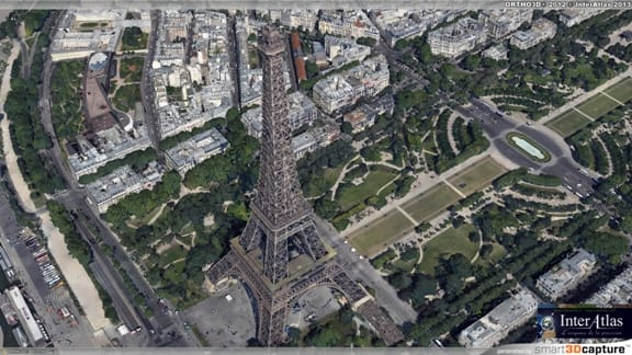 The Eiffel Tower captured with ContextCapture. (Image courtesy of Bentley.)