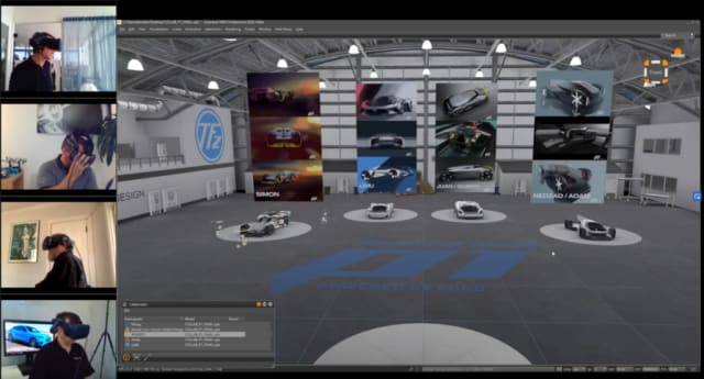 Ford's design review in virtual space.(Picture courtesy of Autodesk.)