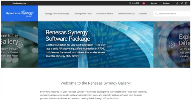 Renesas Synergy Gallery. (Image courtesy of Renesas.)