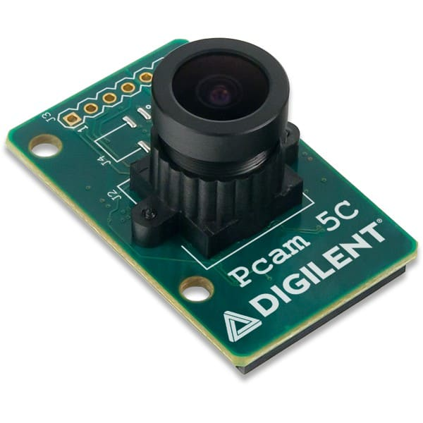 Pcam 5C fixed-focus color imaging module. (Image courtesy of RS Components.)