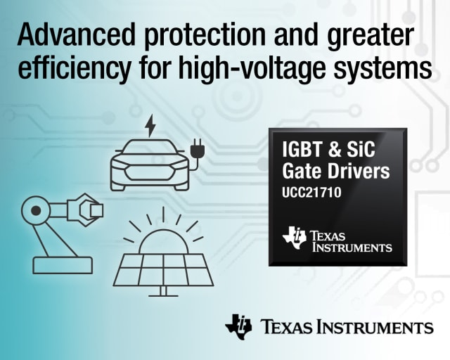 IGBT & SiC gate drivers. (Image courtesy of Texas Instruments.)