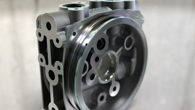 Figure 5. A machined thing...or is it? Nope, it's a render.(Image courtesy of Related Fluid Power.)