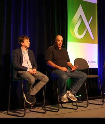 Jeff Kowalski, CTOof Autodesk, at Carl's right during Autodesk University 2015, will remain in his position.