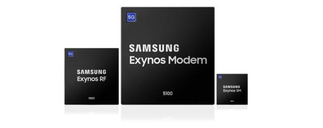 Exynos Modem chipsets. (Image courtesy of Samsung.)