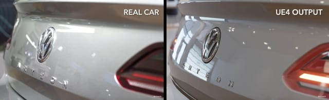 Figure 5. One of these cars is real. One is not. (Image courtesy of Epic Games.)