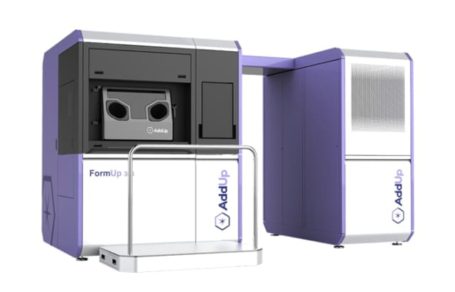 The FormUp 350 3D printer from AddUp. (Image courtesy of AddUp.)