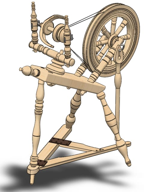 Spinning wheel. Dagnija Kroģere, second year, medical engineering and physics, fall 2014 semester.