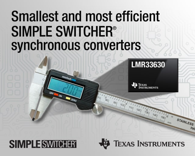 SIMPLE SWITCHER DC/DC buck regulators. (Image courtesy of Texas Instruments.)