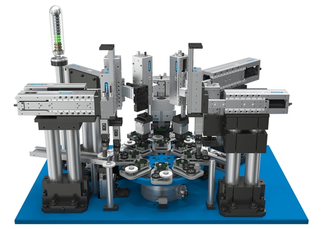 Library of mechatronic gripping systems components. (Image courtesy of SCHUNK.)
