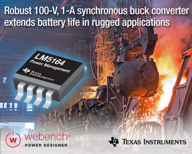 LM5164 synchronous buck converter. (Image courtesy of Texas Instruments.)