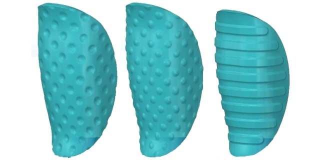 Example 3D textures in SOLIDWORKS 2019. (Image courtesy of SOLIDWORKS.)