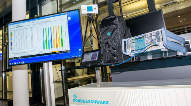 Indoor 5G NR network. (Image courtesy of Rohde & Schwarz.)