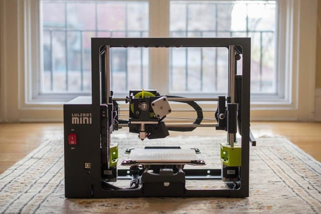 The LulzBot Mini 3D printer. (Image courtesy of Volim Photo.)