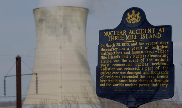 "Three Mile Island, ""the scene of the nation's worst commercial nuclear accident."" But was it? (Image courtesy of The History Channel.)"