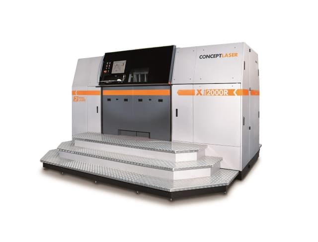 Concept Laser manufacturers the largest powder bed fusion metal 3D printer on the market, the X line 2000R. (Image courtesy of Concept Laser.)