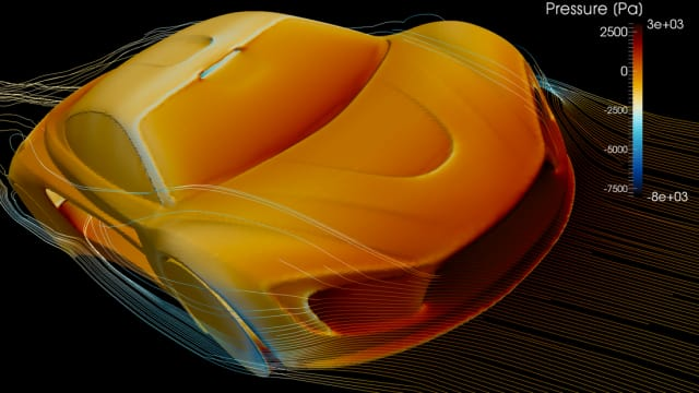 The Aquilo concept car was created to prove airflow could produce usable side forces. Simulations done using OpenFOAM by Wouter, who took what he learned about writing interfaces to OpenFOAM and created Airshape. (Image courtesy of AirShaper.)