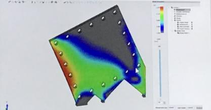 3DXpert will do a finite element analysis (FEA) to detect the expansions and contractions the print material undergoes, which can result in warpage and in worst case, breakage.