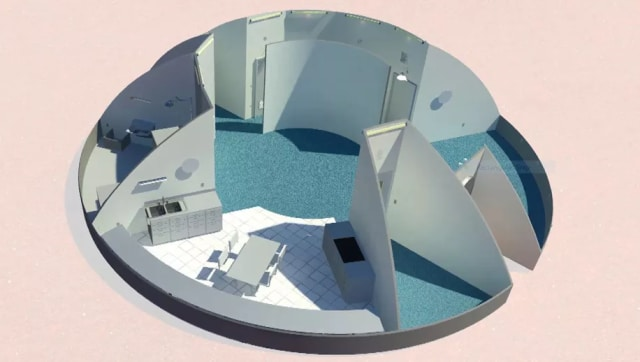 Northwestern University of Evanston's design is one of the most practicalin the contest. (Image courtesy of NASA.)