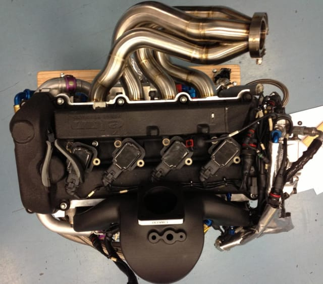 The DeltaWing Intake Manifold 3D printed by CRP USA. (Image courtesy of CRP USA.)
