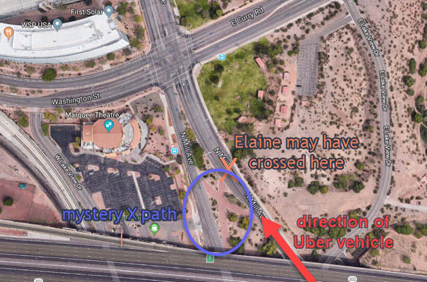 2Satellite view of accident area. Click for interactive map. (Picture courtesy of Google Maps)