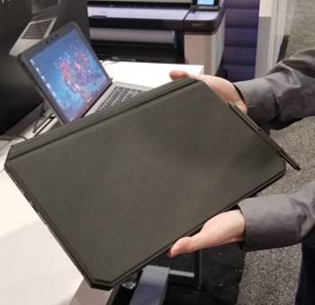 Weighing 4 pounds, the ZBook x2 is just a bit too heavy in the hand.