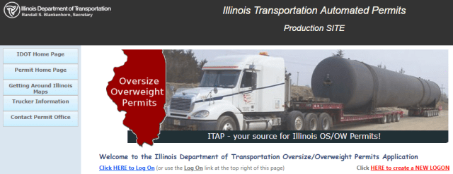 The Illinois Department of Transportation's innovative new permitting website.