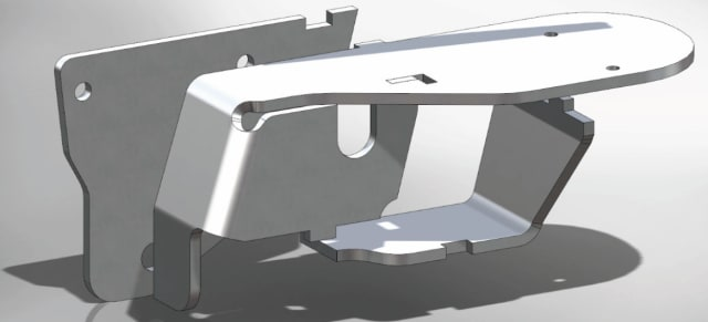 Tabs and slots can be added as features in SOLIDWORKS 2018. (Image courtesy of Dassault Systèmes SolidWorks.)