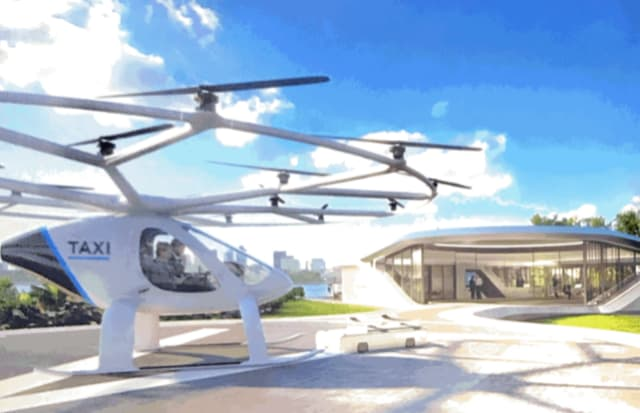 Flying taxi was to have landed in Singapore in 2020.