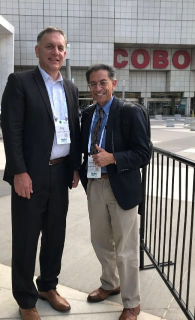 Siemens Software CEO Tony Hemmelgarn with the author at a previous Siemens event, Realize LIVE at Detroit's Cobo Hall.