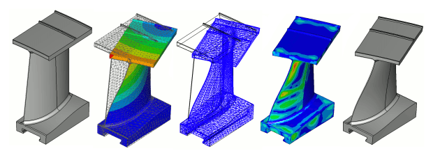 The new geometry morphing tool in CADfix 12 automatically creates geometry from simulation results. (Image courtesy of ITI.)