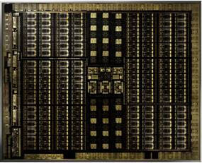 Die of the NVIDIA Turing TU102 GPU architecture. (Image courtesy of NVIDIA.)
