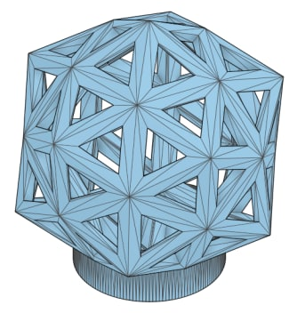 Model of our test geodesic figurine.