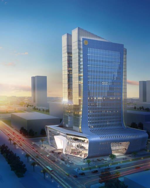 3D model of the Burj Alfardan. (Image courtesy of Arab Engineering Bureau.)