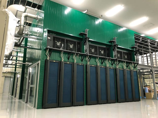 """The eighth-fastest supercomputer in the world is called AI Bridging Cloud Infrastructure (ABCI) and resides at Japan's National Institute of Advanced Industrial Science and Technology (AIST). This supercomputer is becoming easier for AI researchers to use thanks to """"software containers,"""" which were developed by NVIDIA. The software containers bundle applications with digital libraries and the analogous software needed to run AI applications like deep-learning models. It received a mark of 19.9 petaflops on the HPL benchmarks. Built by Fujitsu, the ABCI uses NVIDIA Tesla V100 GPUs and Intel Xeon Gold processors. (Image courtesy of AIST.)"""
