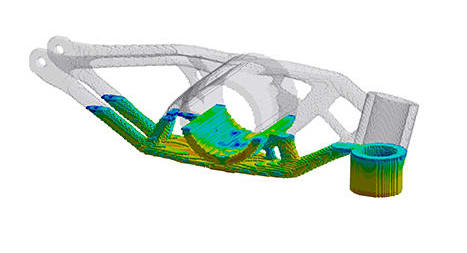 Figure 8. ANSYS print simulation. (Image courtesy of ANSYS.)