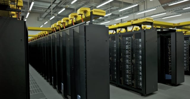 Pictured above is the SuperMUC-NG, ninth fastest supercomputer in the world. It scored 19.5 petaflops and was installed at the Leibiniz Supercomputing Center in Germany. It was built by Lenovo and runs on Intel Platinum Xeon processors. (Image courtesy of the Leibiniz Supercomputing Center.)