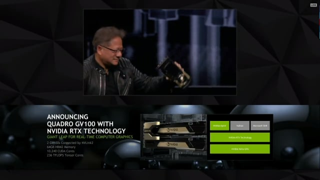 This new DGX-2, presented by CEO Jensen Huang at the recent NVIDIA GDC 2018 conference, was manufactured using TSMC's 12nm Field Effect Transistor (FFT) process. Once it is assembled at Foxconn, it will be packaged and held in shipping warehouses before being sent to the customer. (Image courtesy of NVIDIA.)
