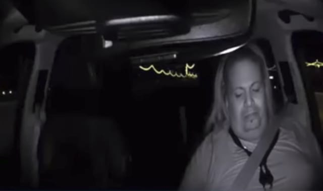 Driver was looking away for 5 seconds. In that time, the car going 38 mph had traveled almost 300 ft (274 ft). Driver appeared to be watching something below and to the right. A slight smile appears on her face that could be interpreted as amusement or enjoyment.