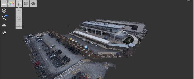 A point cloud of the parking garage at ATL. (Image courtesy of Atkins Global.)