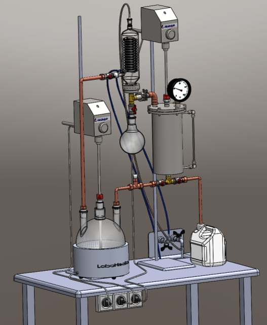 Extraction apparatus. Uldis Peipiņš, four year, chemical engineering/technology, all 2014 semester.