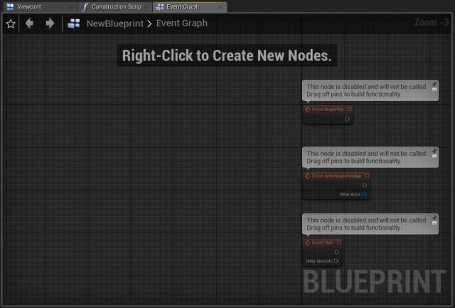 Figure 31. Creating a new Blueprint in the Content Browser