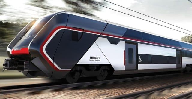 The Caravaggio commuter train car. (Image courtesy of Hitachi Rail.)