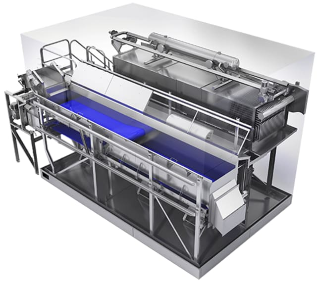 Since JBT's/Frigoscandias first installed FLoFREEZE back in 1962, millions of tons of fresh food products have been successfully and profitably frozen on FLoFREEZE fluidized bed linear freezers. The equipment provides true fluidization, using a patented air flow system that separates and freezes the most delicate products, while simultaneously fulfilling the industry's toughest requirements. Generally, a lot has changed in terms of product realization of these production units. The innovation journey is an ongoing process and right now JBT is moving away from the image of a distinct mechanical industry to instead develop solutions where the mechanical content decreases and electronics, sensors, software, IoT control and predictive maintenance increase radically.