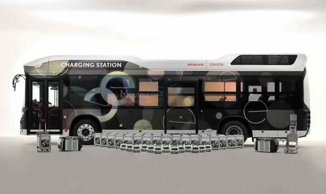 Moving e mobile emergency power station. (Image courtesy of Toyota.)