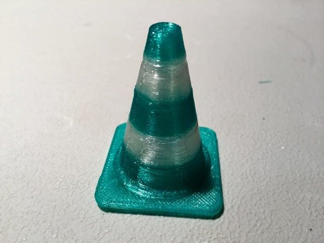 A two color 3D print made on the XYZprinting da Vinci Jr. 2.0 Mix.