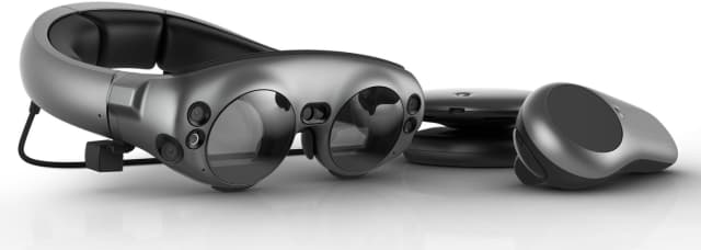 As a company most commonly associated with splashy proclamations, lively visions of the future and little tangible results to show for its efforts, they did in fact release a product called Magic Leap One in December of 2017. Image courtesy of Magic Leap.)